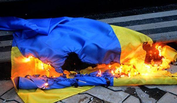 Захарова прокомментировала ситуацию с сожжением украинского флага