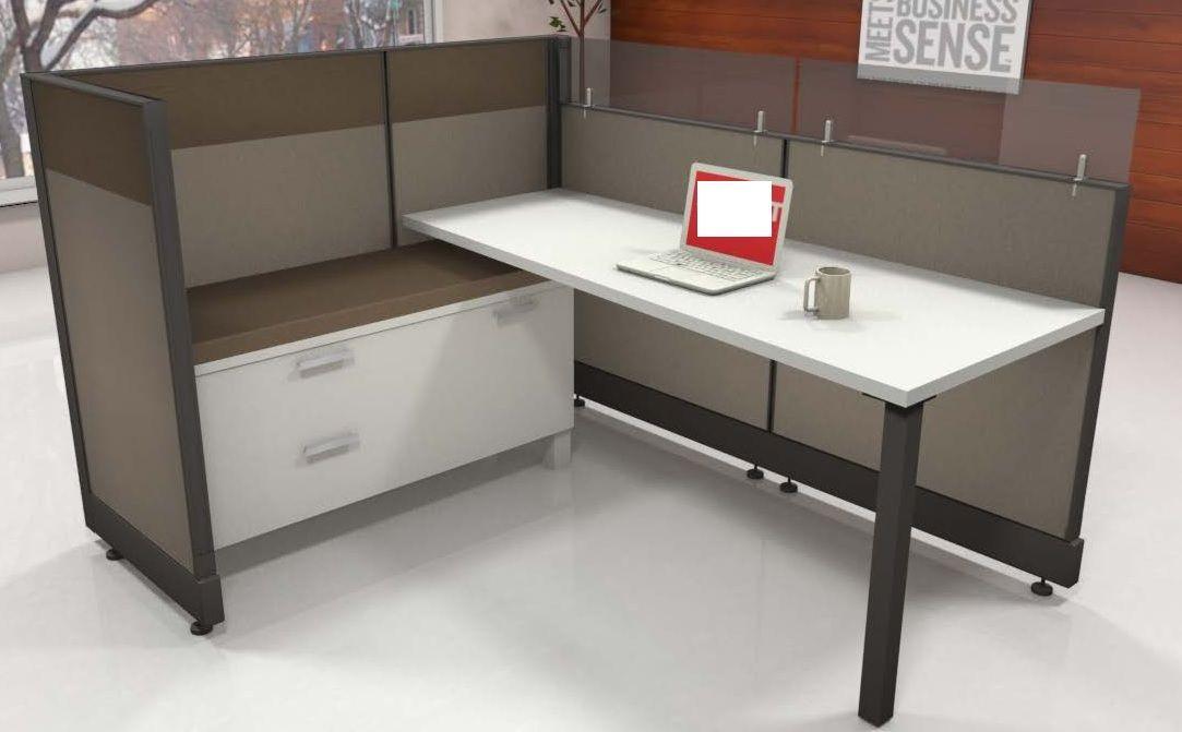 The Office Leader 6 X 6 L Shape Office Cubicle Desk Workstation