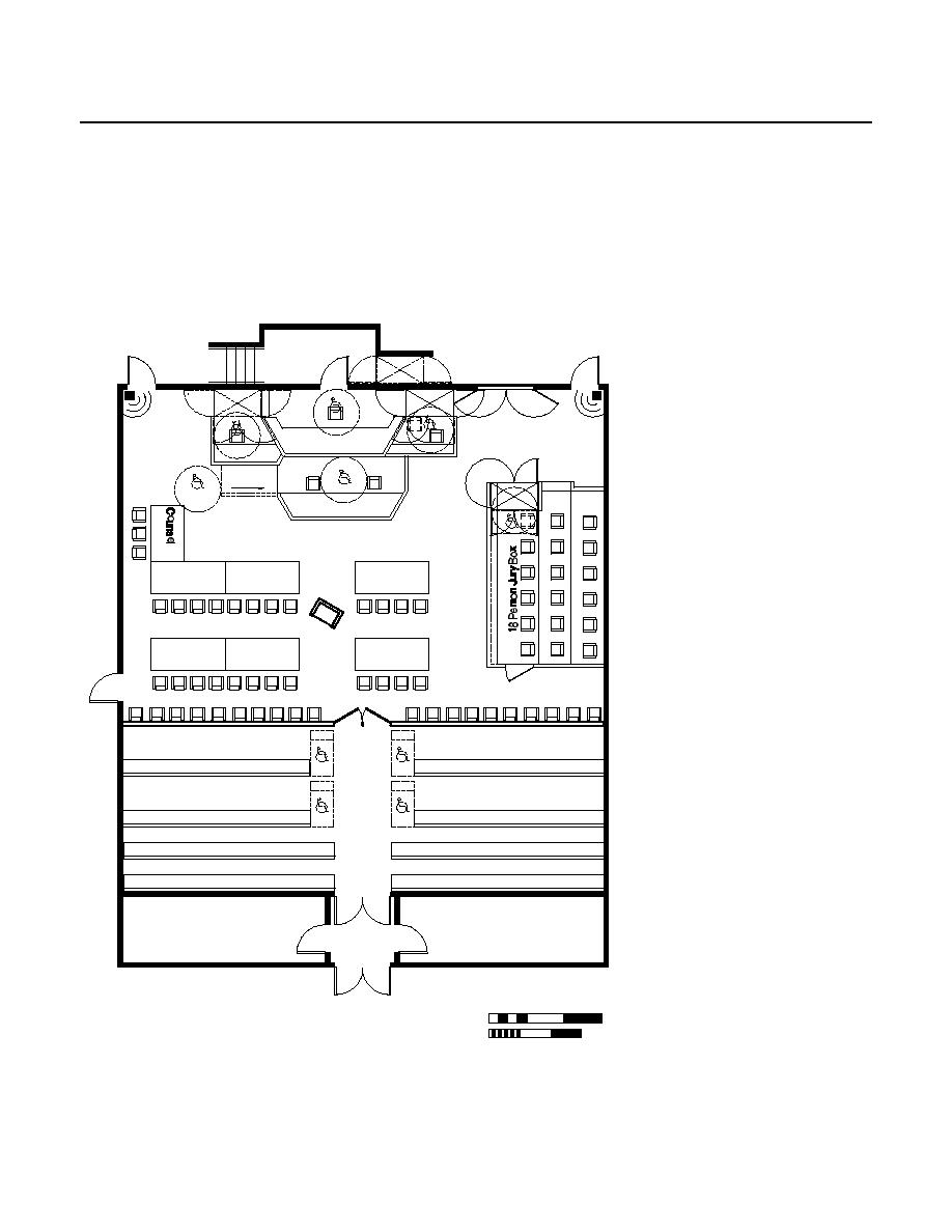 Figure 4.8 U.S. Distric Court Special Proceedings Courtroom