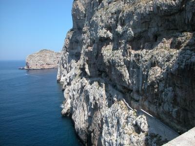 Sardinien - Treppen Escala del Cabirol Capo Caccia