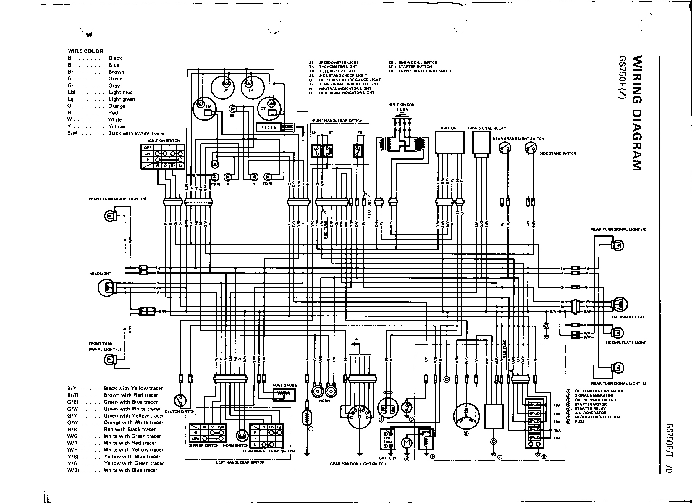 [WRG-7963] 80 Suzuki Gs 850 Wiring Diagram