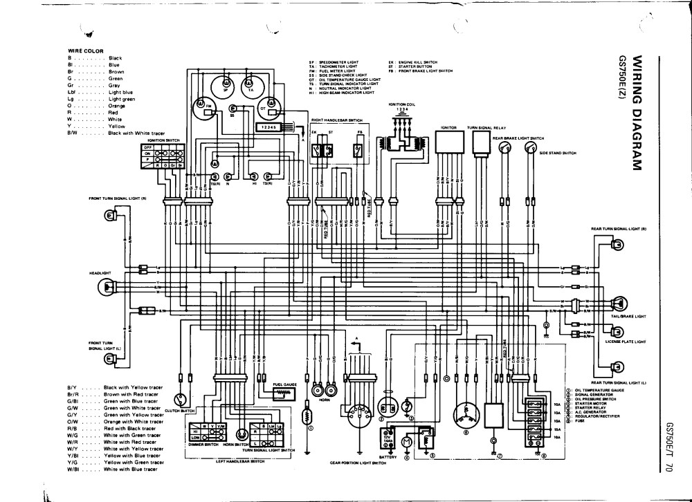 medium resolution of bikecliff s website gs750 16 valve color wiring diagram