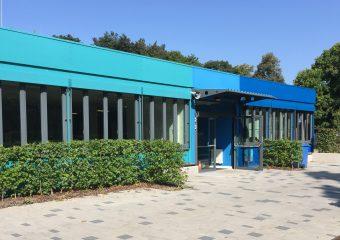 Der neue Pavillon mit drei Klassenzimmern