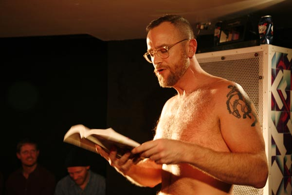 reading gay magazine
