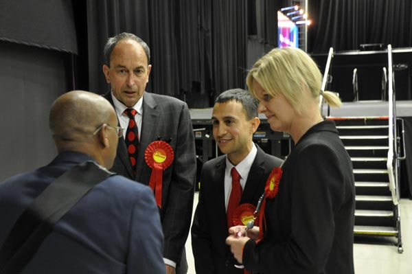 In with the new: Three new Labour Councillors Morris, Chapman and Barford give Labour minority control of the council.