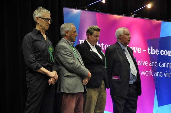 Out with the old: All three Green Queens Park Councillors, Stanton, Bowden and Powell lose seats.