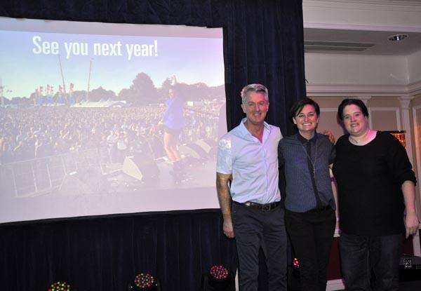 Zoe Lyons with Paul Kemp and Dulcie Weaver