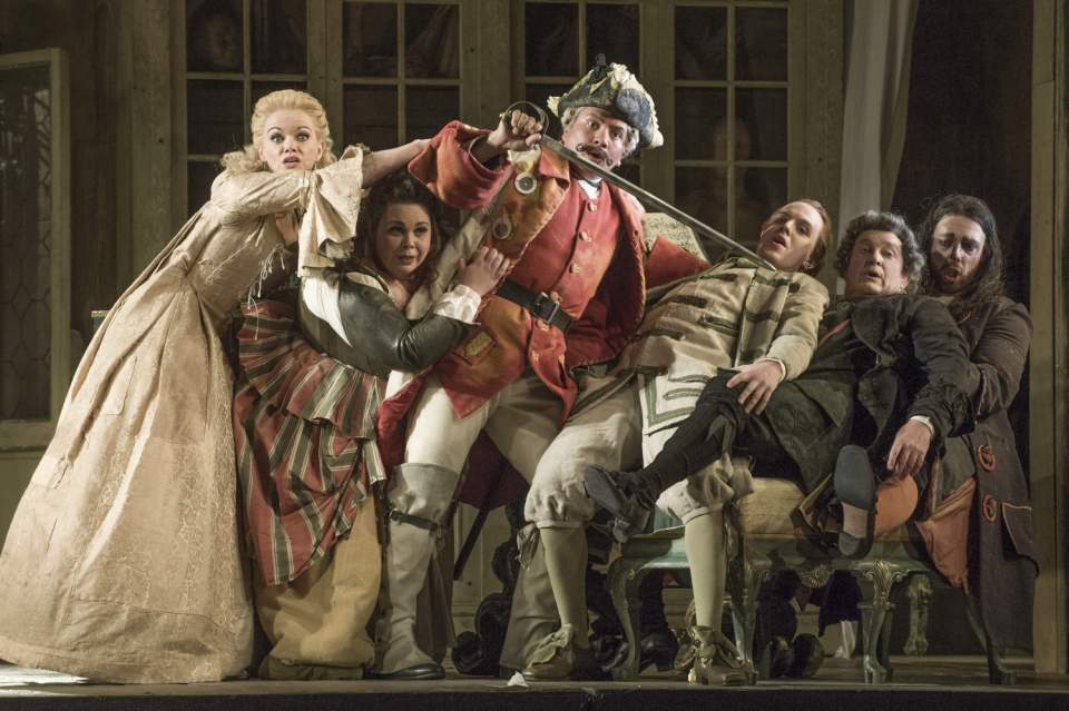 The Barber of Seville, Kathryn Rudge, Katherine Broderick, Eleazar Rodriguez, Morgan Pearse, Andrew Shore, Barnaby Rea (c) Mike Hoban