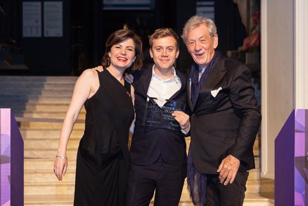 Jane Hill, Owen Jones and Sir Ian McKellen