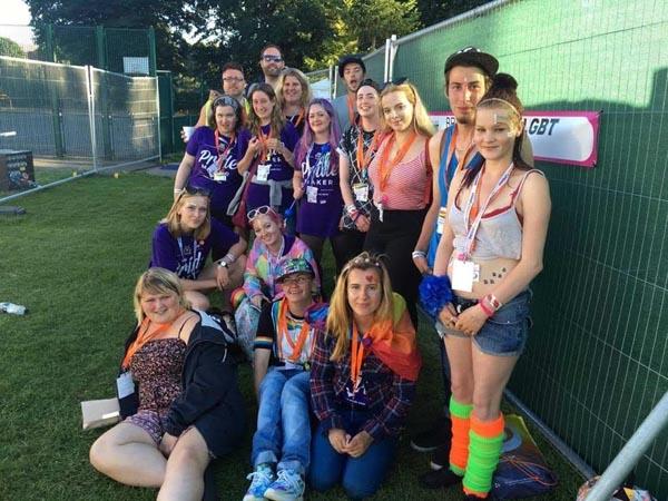Blueprint 22 volunteers at Brighton Pride
