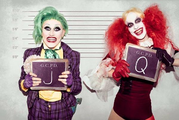 Harley Quinn & Joker: Photo by Scott Chalmers