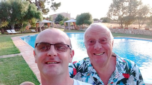 Mike and Roger at Hotel Es Lloquet – the Secret Place