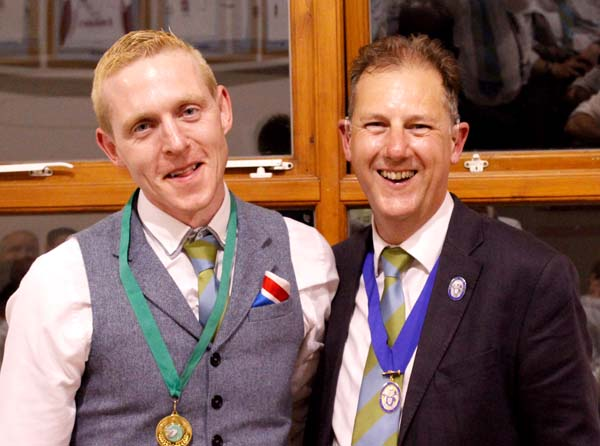 Player's player of the Year Ryan Butcher with Club President Cllr Peter West