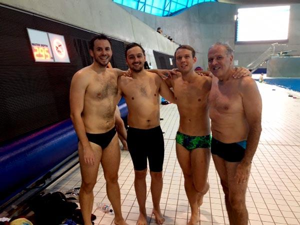 Left to right - Chris, Josh, Martin and John