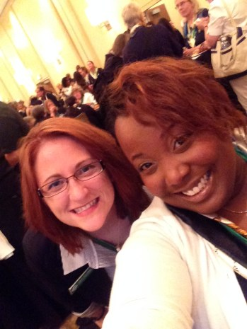 GSCM Staff Members Megan Hardy and Candace Baker are having a great time at GSC14