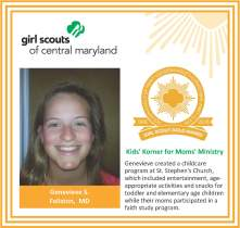 Gold Award for facebook Genevieve Simmons