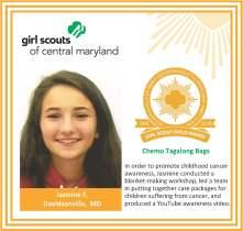 Gold Award for facebook Jasmine Fuhrmann