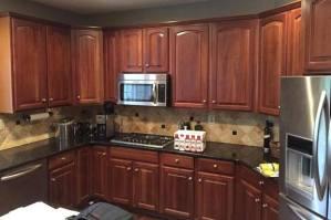 Black kitchen when brown