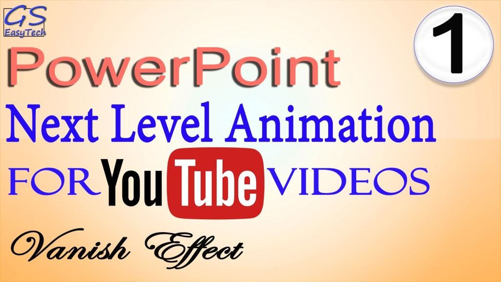 Powerpoint Animation vanishing effect