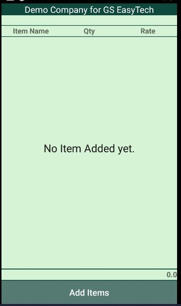 tally on Mobile (TOM) add item screen-0