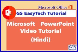 Powerpoint Tutorial video tutorial hin