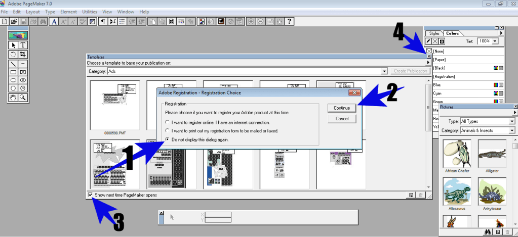 How to Install PageMaker 7.0.1 -7
