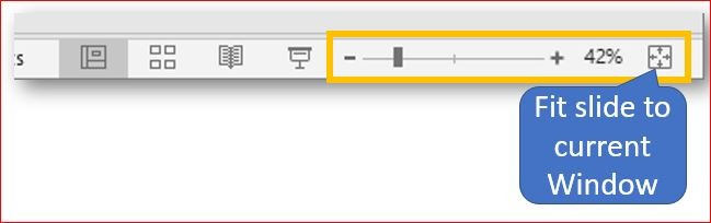 Microsoft PowerPoint 2019  The Zoom bar
