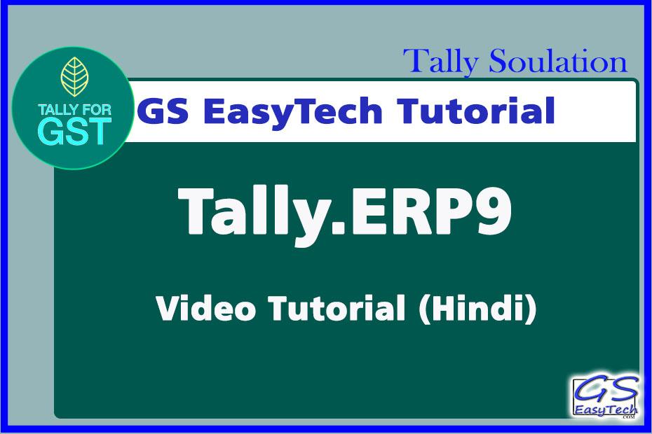 Tally video tutorial