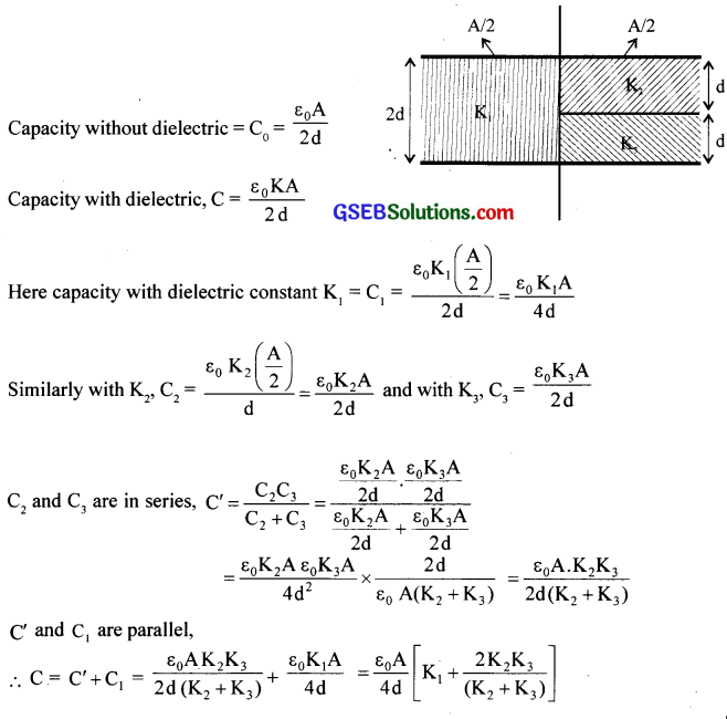GSEB Solutions Class 12 Physics Chapter 2 Electrostatic Potential and Capacitance 43