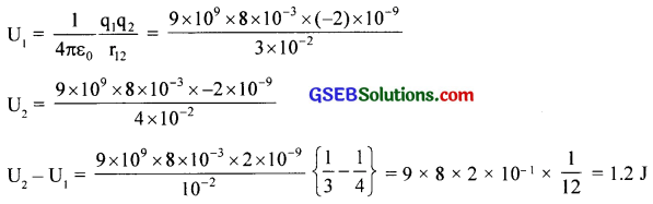 GSEB Solutions Class 12 Physics Chapter 2 Electrostatic Potential and Capacitance 6