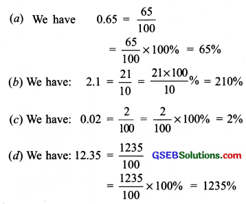 GSEB Solutions Class 7 Maths Chapter 8 Comparing Quantities Ex 8.2 1