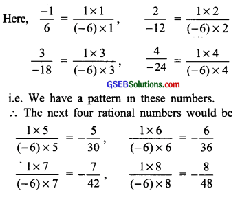 GSEB Solutions Class 7 Maths Chapter 9 Rational Numbers Ex 9.1 4