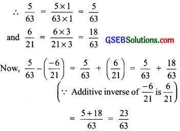 GSEB Solutions Class 7 Maths Chapter 9 Rational Numbers Ex 9.2 5