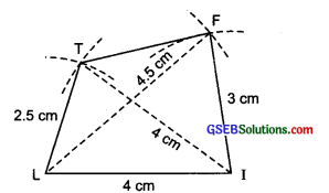 GSEB Solutions Class 8 Maths Chapter Chapter 4 Practical Geometry Ex 4.2