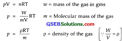 GSEB Solutions Class 11 Chemistry Chapter 5 States of Matter 1