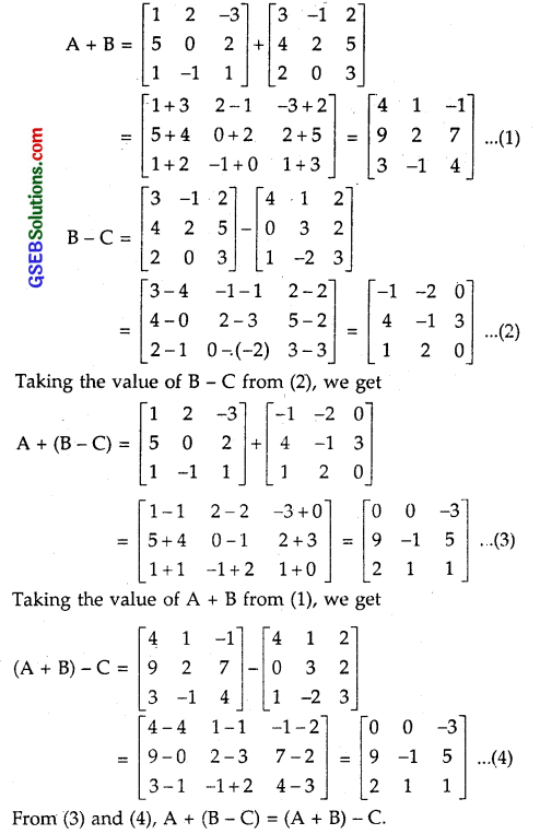 GSEB Solutions Class 12 Maths Chapter 3 Matrices Ex 3.2 5
