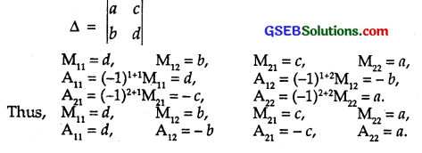GSEB Solutions Class 12 Maths Chapter 4 Determinants Ex 4.4 1