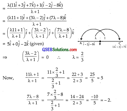 GSEB Solutions Class 12 Maths Chapter 10 Vector Algebra Miscellaneous Exercise img 5