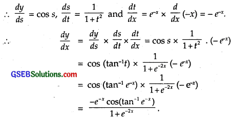 GSEB Solutions Class 12 Maths Chapter 5 Continuity and Differentiability Ex 5.4 3