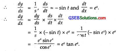 GSEB Solutions Class 12 Maths Chapter 5 Continuity and Differentiability Ex 5.4 4