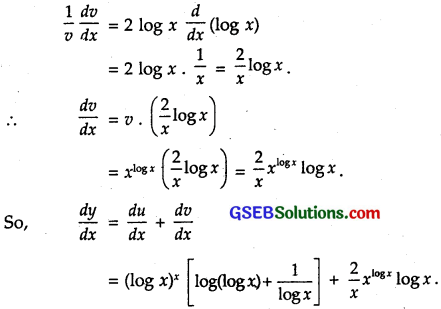 GSEB Solutions Class 12 Maths Chapter 5 Continuity and Differentiability Ex 5.5 7