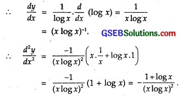 GSEB Solutions Class 12 Maths Chapter 5 Continuity and Differentiability Ex 5.7 2