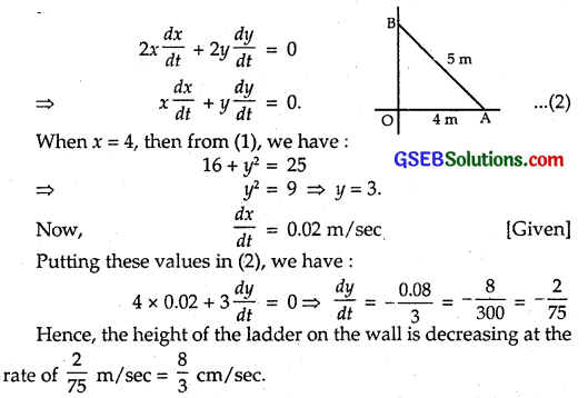 GSEB Solutions Class 12 Maths Chapter 6 Application of Derivatives Ex 6.1 10