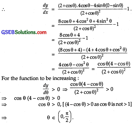 GSEB Solutions Class 12 Maths Chapter 6 Application of Derivatives Ex 6.2 4