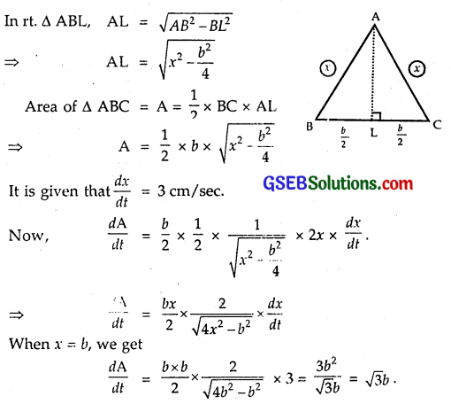 GSEB Solutions Class 12 Maths Chapter 6 Application of Derivatives Miscellaneous Exercise 4