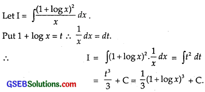 GSEB Solutions Class 12 Maths Chapter 7 Integrals Ex 7.2 img 34