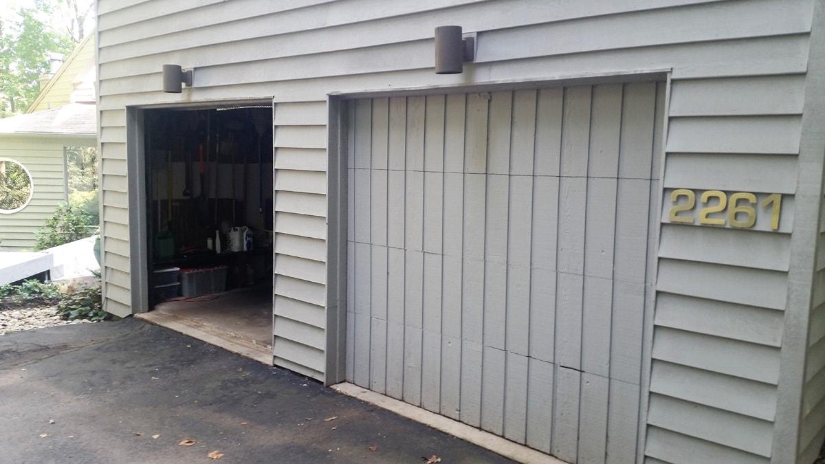 Garage Door Repair 3 Before  GS Garage Doors