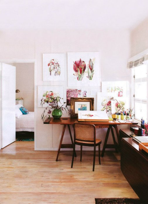 Home studio of artist Cherie-Christine