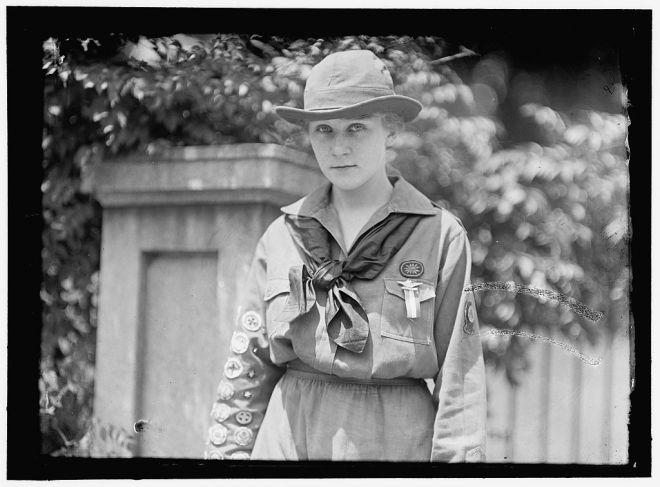 """Eleanor Putzki, the """"Best Girl Scout in America."""""""