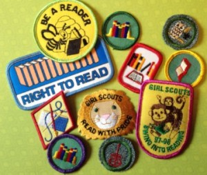 Girls have always been able to earn badges and patches for reading.